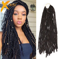 "20"" Havana Mambo Faux Locs Braids Dreadlock Braid Hair Extensions Crochet Twist"
