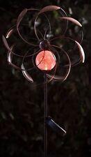 Colore alimentazio solare da giardino in metallo LED Windmill gioco all'aperto Patio Lanterna Illuminazione