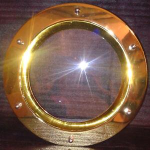 PORTHOLE FOR DOOR 350 mm GOLDEN