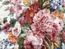 Ralph Lauren Allison Full Flat Sheet Cabbage Roses Floral 100% Cotton USA