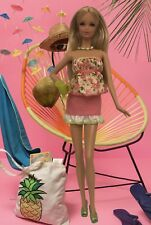 Barbie Clothes Pink Skirt Baby Doll Top Fashionista Model Muse Shoes Lot D
