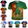 New Fashion Women/Men The Lion King Animal Design 3D Print Casual T-Shirt TK140