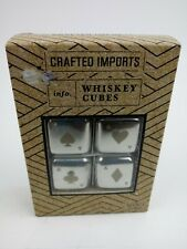 Crafted Imports Whiskey Cubes Novelty Set of 4 Drink Coolers Four Metal Aces