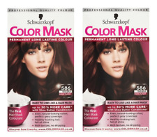 2x Schwarzkopf COLOUR MASK Permanent Colour 586 Warm Mahogany