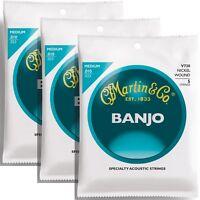 3 Sets of Martin V730 Vega Banjo Strings 5-String Medium 10-23 3-Pack