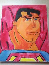 D C COMICS superman hand painting