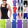 Men Sports Gym Compression Shorts Pants Shirts Workout Base Layer Running Tights