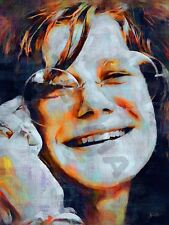 Janis Joplin Blues 60s art print poster dipinto ad olio lff0078