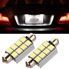 2* 42mm 8 SMD 5050 LED Dome Festoon Interior Car Reading Light Parking Lamp Bulb