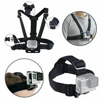 Harness Head Elastic Body Chest Strap Mount for GoPro Hero 8 6 6 5 4 3+ 3 Action