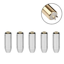 5PCS 2.5mm 4 Pole Stereo Audio Plug To 2.5mm Female Jack For DIY Earphone Silver