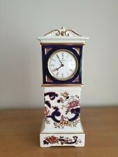 RARE NEW Masons Blue Mandalay Mantle Clock 31cm Tall