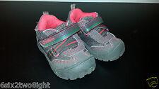 OSHKOSH Bgosh Baby Toddler Boy Shoes Sneaker Brown Red Velcro 5M Meteor-13 EUC