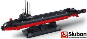 Sluban Militray Navy Nuclear Submarine Sub Ship Building Bricks Blocks B0391 New