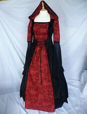 Gothic Red Skull Hooded Dress Halloween Dress Ready made Size 12 to 14