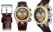 NEW Baldinini BD-34 Men's Chronograph Leather Brown/Rose Gold Classy Watch