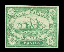 EGYPT 1868  SUEZ CANAL Co - Steamship 5c green  Sc# L2 mint MH