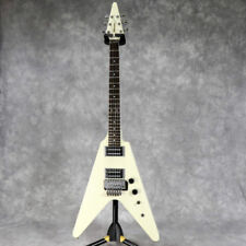 FERNANDES BSV-70 White Flying V type Electric Guitar Made in Japan USED F/S