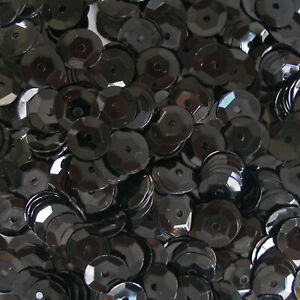 Sequins Black 10mm Round Cup ~240 or ~2,800 pieces Loose High Quality