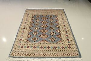 Genuine Handmade Bokhara 4'x6' Multi-Color Masterpiece Silk & Wool
