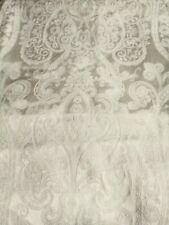 "Brocade Floral Cream Fabric 18"" x 34"" Wedding Dress Jacket Skirt Poly/Cotton"