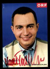 Karl Trahbüchler ORF Autogrammkarte Original Signiert ## BC 39848