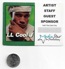 Ll Cool J New Back Stage Pass/sticker/decal rap hip-hop