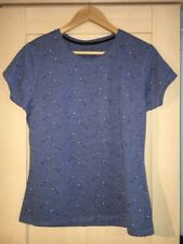 Blue Arrow Print Atmosphere At Primark Crew Tee T Shirt 14 Brand New