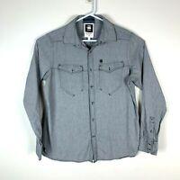 G Star Raw Correctline 'RCT New Western' Long Sleeve Shirt Size Men's Large