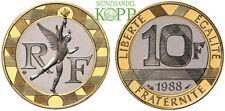 R789) FRANKREICH 10 Francs 1988 - Génie de la Bastille - Gold