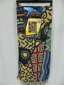 Northwest Disney Marvel Black Panther Tapestry Woven Throw Blanket  48 x 60 NEW