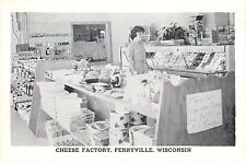 Ferryville Wisconsin WI Cheese Factory Store Advertising Postcard Mississippi