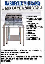 B&P Barbecue Vulcano con STOP GAS BeP Made in Italy cottura dall'alto NO FUMI