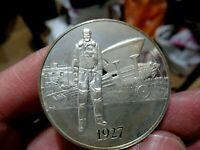 Silver Medal, 1927 Lindbergh Solos to Paris, 1.05 Troy Oz. Sterling Silver