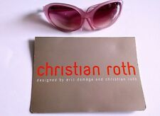 Christian Roth sunglasses in pink large wrap-around style 1990's