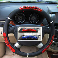 Dragon Word Pattern Car Steering Wheel Cover Red /Black Anti-Slip 38cm Universal