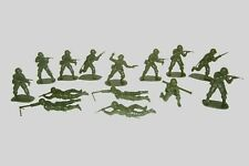 WWII 14 AIRFIX American GI's  plastic toy soldiers 54mm  FREE SHIPPING