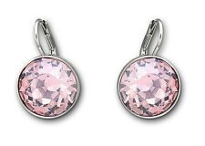 BELLA LIGHT ROSE PINK CRYSTAL PIERCED EARRINGS 2015 SWAROVSKI JEWELRY 5140845