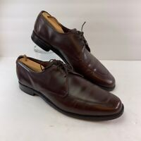 Allen Edmonds Mens Burton Oxfords Brown Lace Up Moc Toe Dress Shoes 11 D