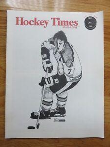 PHIL ESPOSITO Hockey Times December 1972 Magazine BOSTON BRUINS Bobby Orr