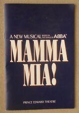 Mamma Mia Program Prince Edward Theatre UK Musical Souvenir Brochure ABBA songs