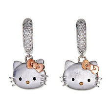 Kimora Lee Simmons Hello Kitty Two Tone 18 kt/Silver hoop earrings