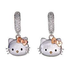 Kimora Lee Simmons Hello Kitty Two Tone 18 kt/Silver hoop earrings