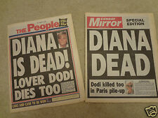 31/8/1997 PRINCESS DIANA ACCIDENT,'BREAKING NEWS' EMERGENCY EDITION NEWSPAPERS 2
