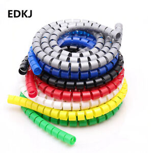 8/10/15/20/25mm 1m Line Organizer Pipe Protection Spiral Wrap Winding Cable Wire