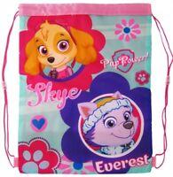 Official Paw Patrol Skye & Everest Girls Boys School Pe Gym Shoe Sports Bag Swim