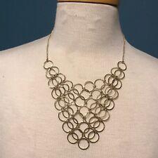 Charming Carlie Bib Necklace Gold Tone