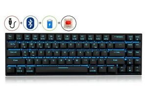 RK71 Mechanical Keyboard 71 Keys Wired/Wireless Bluetooth USB LED Backlit