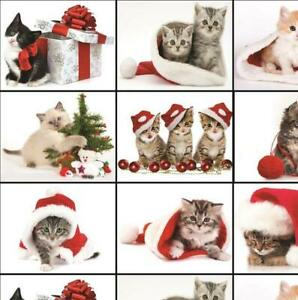 Christmas Cute Cats Wrapping Paper Great Quality Large Size