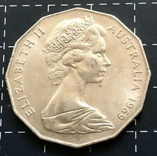 1969 AUSTRALIAN 50 CENT COIN - EF